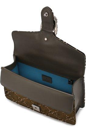 Женская сумка dionysus gg small GUCCI хаки цвета, арт. 499623/9JTAN | Фото 4