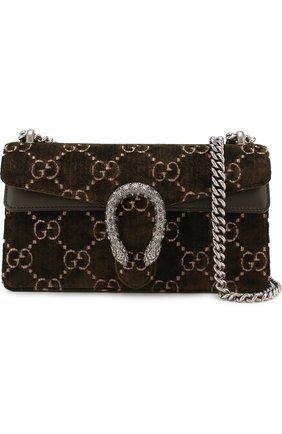 Женская сумка dionysus gg small GUCCI хаки цвета, арт. 499623/9JTAN | Фото 5