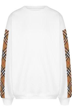 Хлопковый пуловер с круглым вырезом