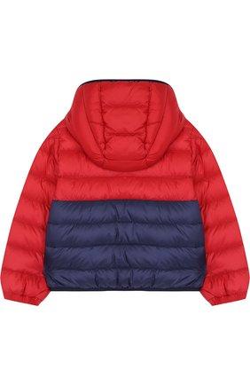 Детского пуховая куртка на молнии с капюшоном MONCLER ENFANT красного цвета, арт. D1-951-41862-05-53048 | Фото 2