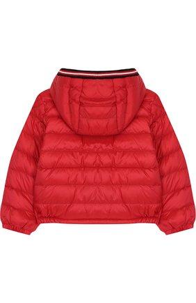 Детского пуховая куртка на молнии с капюшоном MONCLER ENFANT красного цвета, арт. D1-951-40319-05-53048 | Фото 2