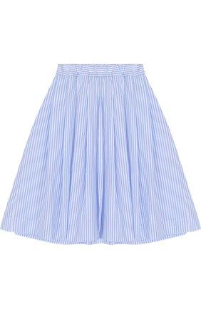 Хлопковая юбка свободного кроя с защипами | Фото №2