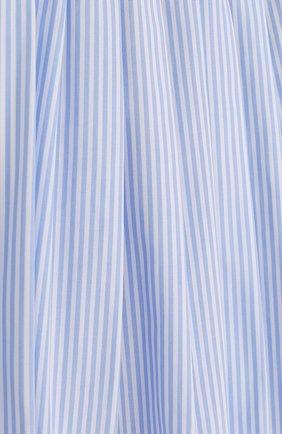 Хлопковая юбка свободного кроя с защипами | Фото №3
