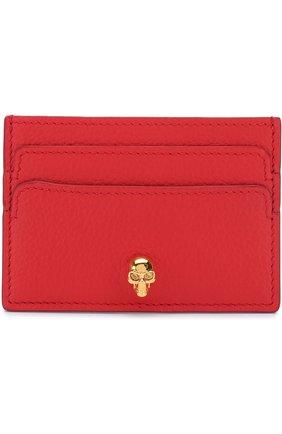 Кожаный футляр для кредитных карт с черепом | Фото №1