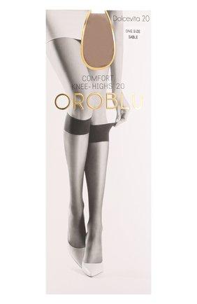 Женские капроновые гольфы OROBLU светло-бежевого цвета, арт. V0BC01054   Фото 1