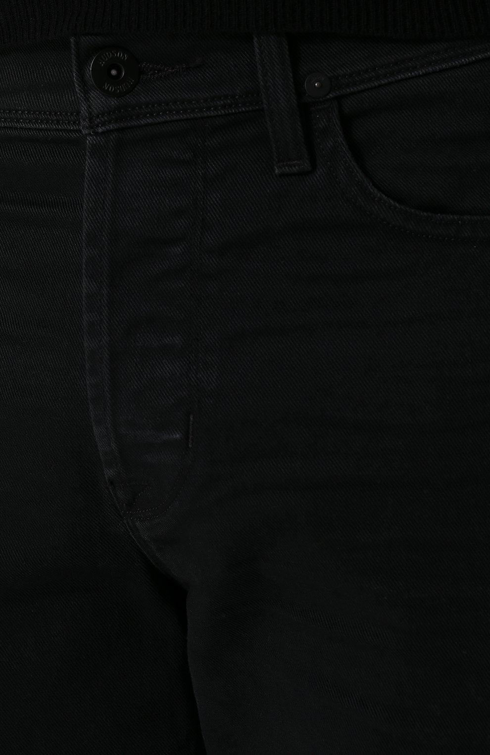 Джинсы прямого кроя Hudson черные | Фото №5