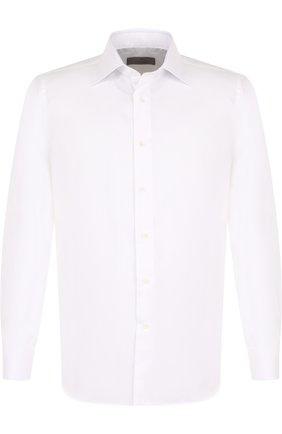 Мужская хлопковая сорочка с воротником кент CANALI белого цвета, арт. 705/GA00327/CS | Фото 1