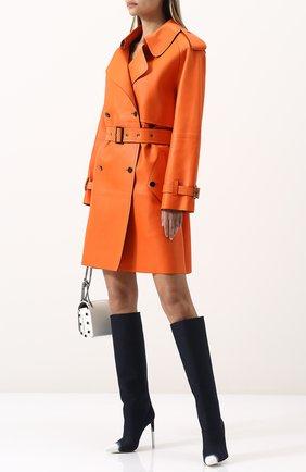 Женское кожаное пальто с поясом TOM FORD оранжевого цвета, арт. CPL650-LEX181 | Фото 2