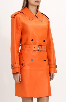 Женское кожаное пальто с поясом TOM FORD оранжевого цвета, арт. CPL650-LEX181 | Фото 3