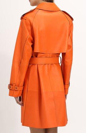 Женское кожаное пальто с поясом TOM FORD оранжевого цвета, арт. CPL650-LEX181 | Фото 4