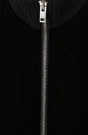 Бомбер на молнии с воротником-стойкой Diesel черная | Фото №5