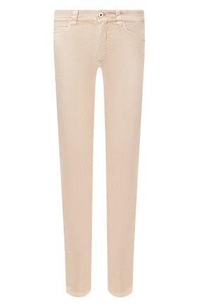 Мужской брюки из смеси льна и хлопка LORO PIANA бежевого цвета, арт. FAI1646   Фото 1