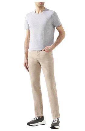 Мужской брюки из смеси льна и хлопка LORO PIANA бежевого цвета, арт. FAI1646   Фото 2
