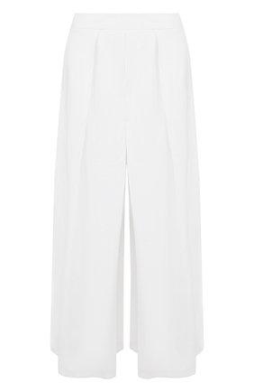 Однотонные укороченные брюки из льна | Фото №1