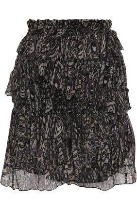 Мини-юбка с оборками и принтом | Фото №1