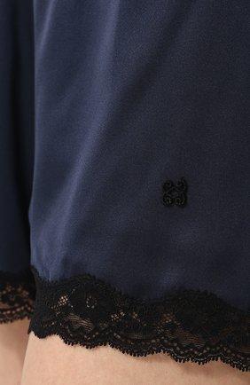Женские шелковые мини-шорты с кружевной отделкой VANNINA VESPERINI темно-синего цвета, арт. VVPE18-26   Фото 5
