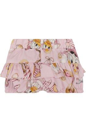 Хлопковые шорты с оборками   Фото №2