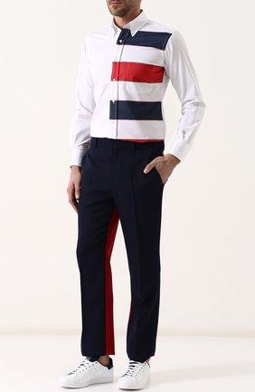 Кожаные кеды Stan Smith на шнуровке adidas by Raf Simons белые | Фото №1