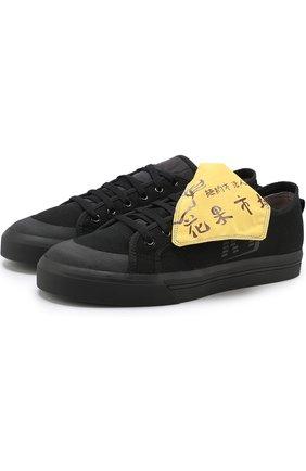 Текстильные кеды Spirit на шнуровке adidas by Raf Simons черные | Фото №1