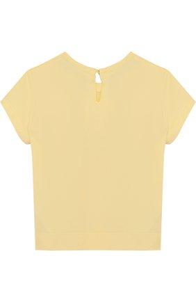 Хлопковая футболка с принтом и стразами | Фото №2