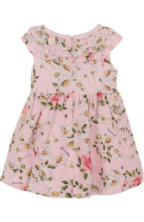 Платье из вискозы с принтом и оборками   Фото №2