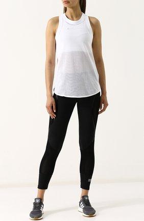 Спортивный топ с перфорацией adidas by Stella McCartney белого цвета | Фото №1