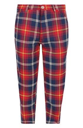 Хлопковые укороченные брюки Comme des Garcons SHIRT BOYS красные | Фото №1