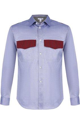 Хлопковая рубашка с контрастной отделкой | Фото №1