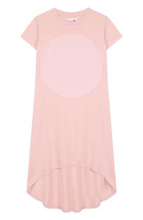 Хлопковое платье свободного кроя с асимметричным подолом | Фото №1