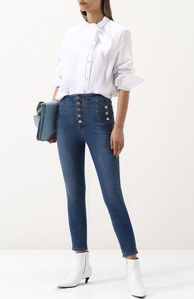 Женские джинсы-скинни с потертостями J BRAND синего цвета, арт. JB001423 | Фото 2