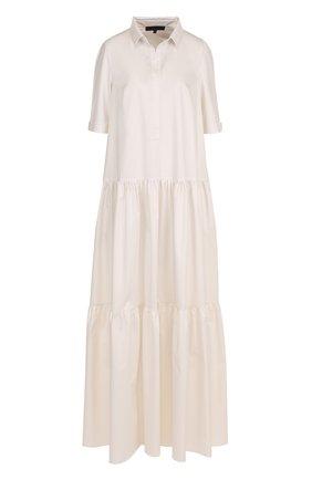 Однотонное хлопковое платье-макси | Фото №1