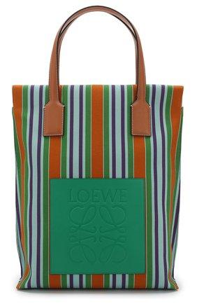 Сумка-шоппер из текстиля Loewe разноцветная цвета | Фото №1