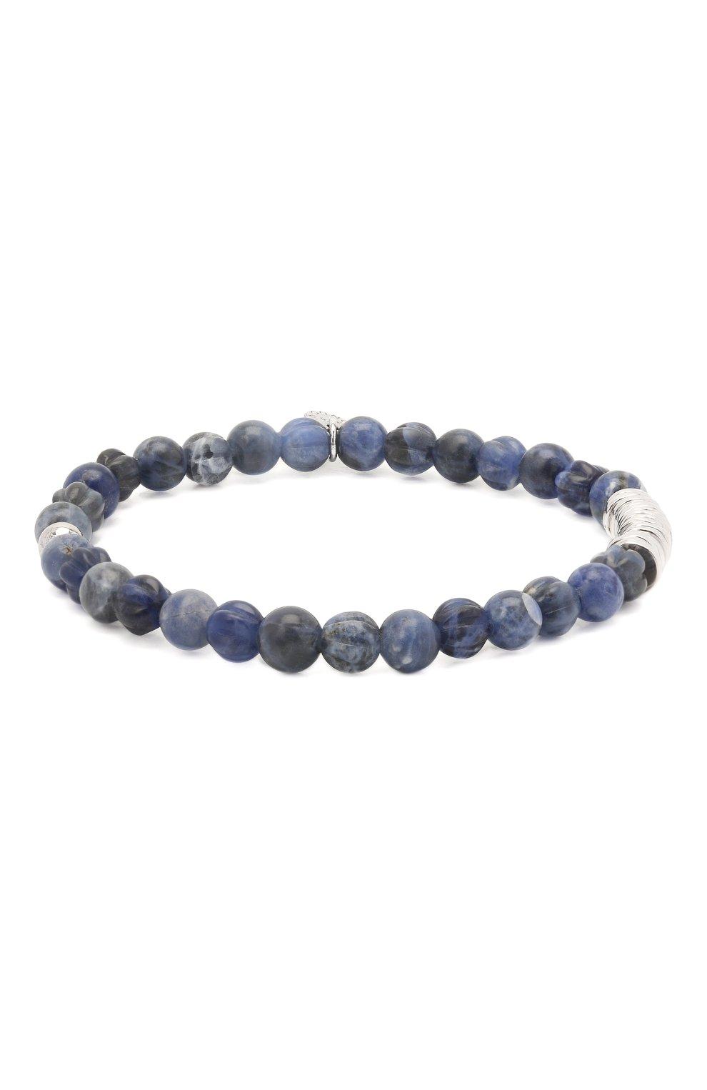 Мужской браслет с серебряной отделкой TATEOSSIAN синего цвета, арт. BL1043   Фото 1