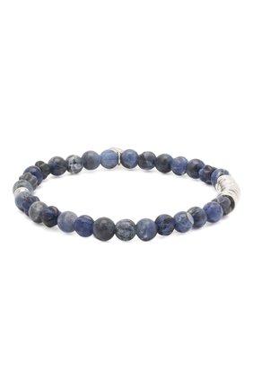 Мужской браслет с серебряной отделкой TATEOSSIAN синего цвета, арт. BL1043 | Фото 1