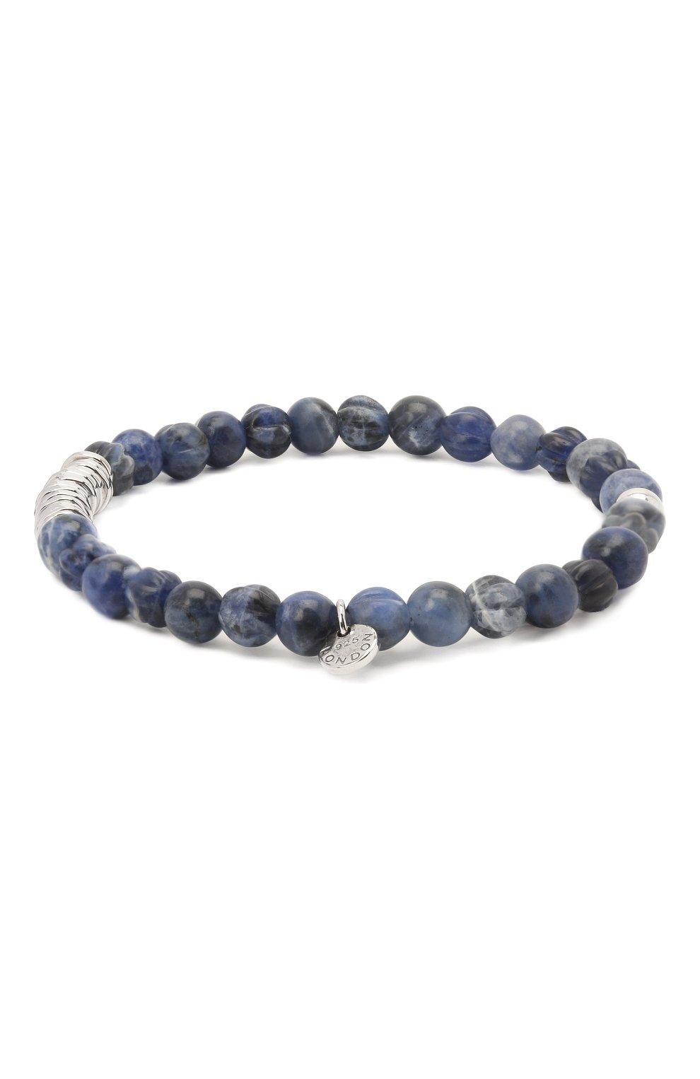 Мужской браслет с серебряной отделкой TATEOSSIAN синего цвета, арт. BL1043   Фото 2
