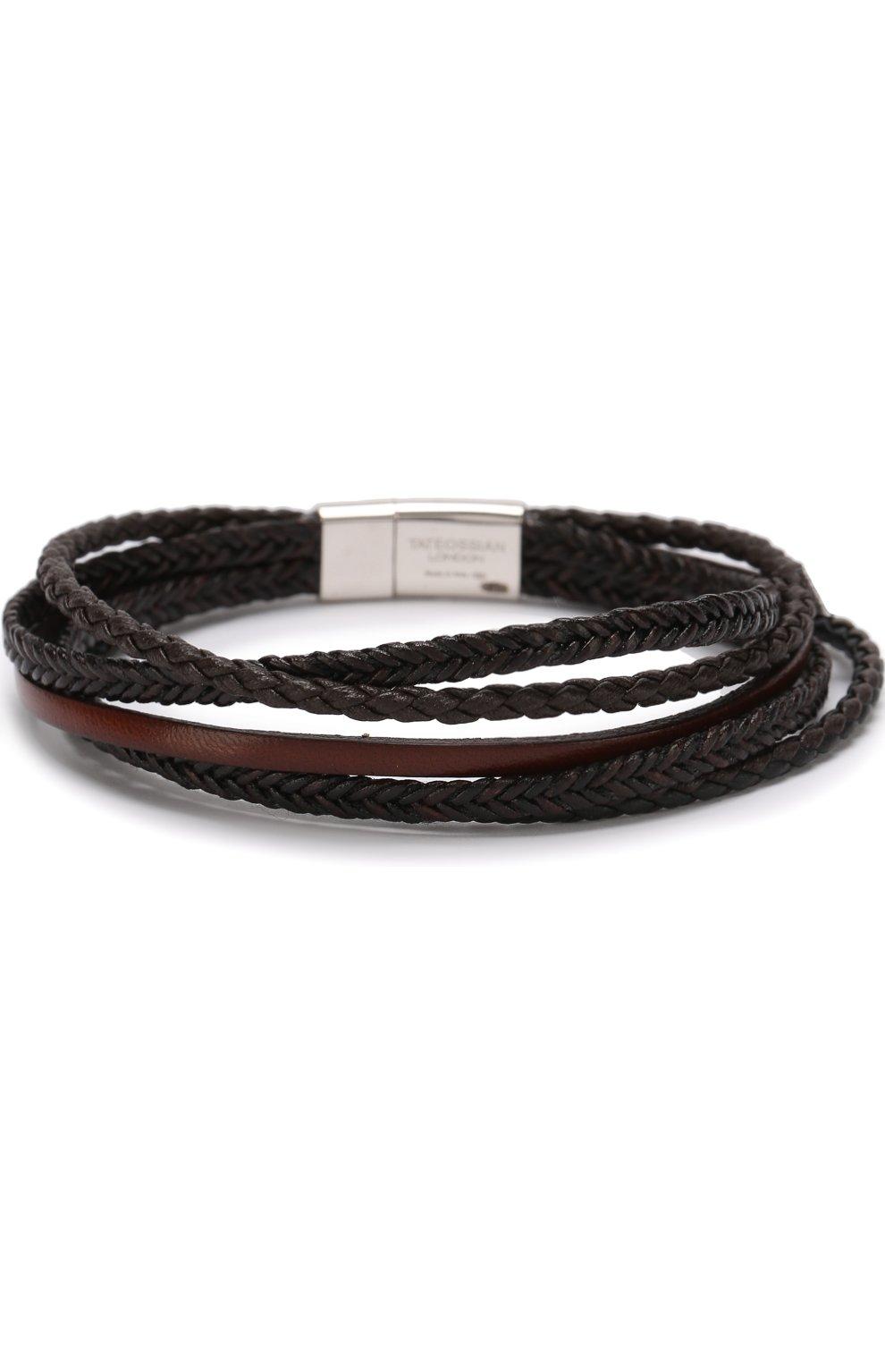Мужской кожаный браслет TATEOSSIAN разноцветного цвета, арт. BL7786 | Фото 2 (Материал: Кожа; Статус проверки: Проверена категория)