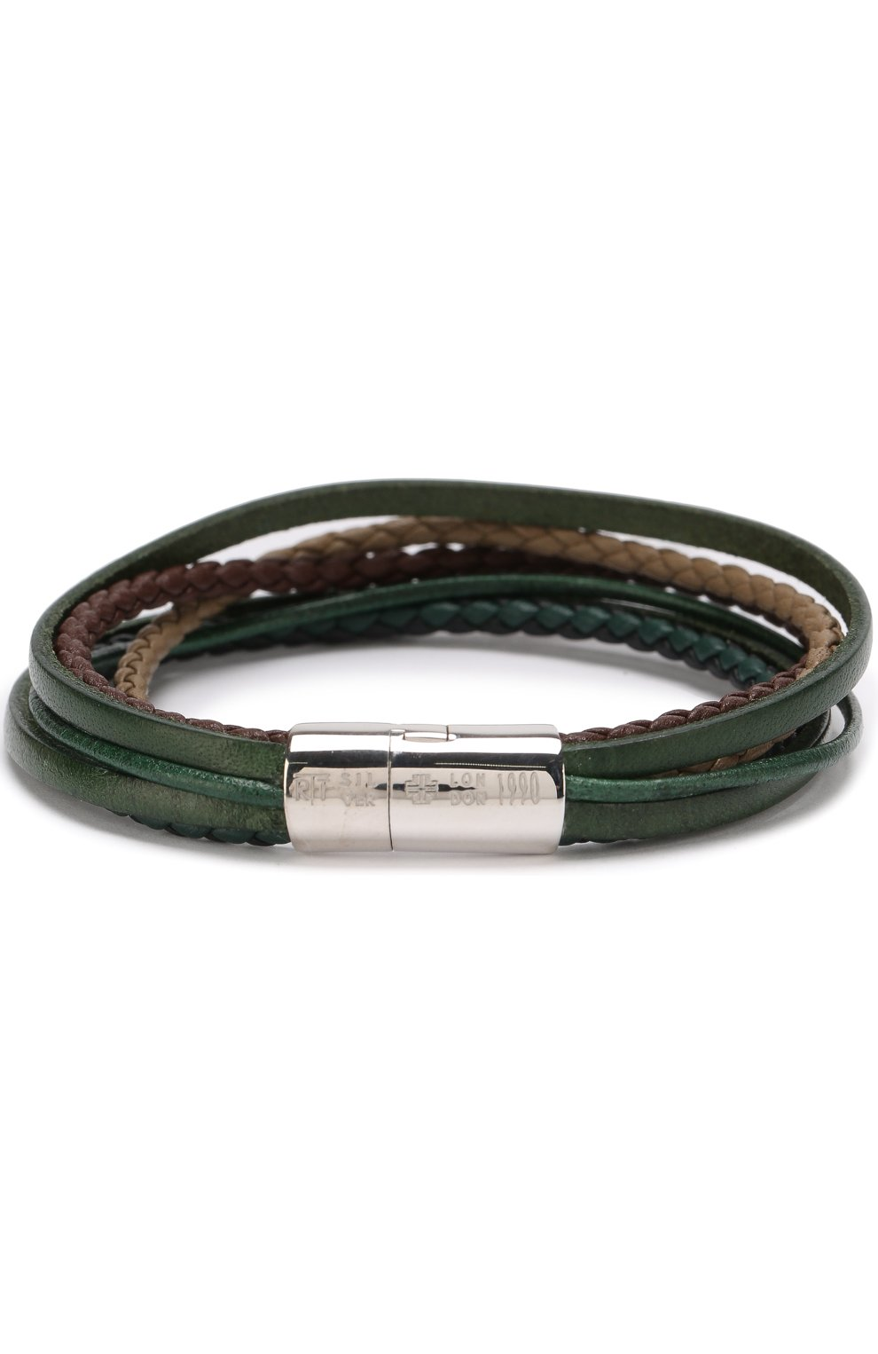 Мужской кожаный браслет TATEOSSIAN разноцветного цвета, арт. BL7911 | Фото 1 (Материал: Кожа)