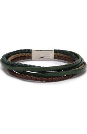 Мужской кожаный браслет TATEOSSIAN разноцветного цвета, арт. BL7911 | Фото 2 (Материал: Кожа)