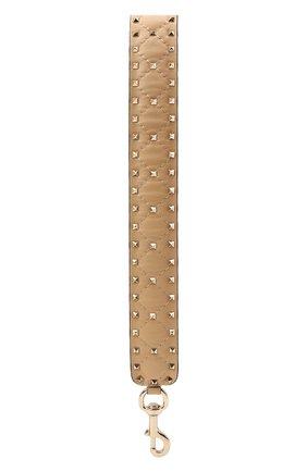 Женские кожаный ремень для сумки valentino garavani rockstud spike VALENTINO бежевого цвета, арт. QW1P0P37/NAP | Фото 2