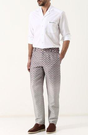 Мужская хлопковая рубашка с отложным воротником GIORGIO ARMANI белого цвета, арт. WSCVTT/WS27C | Фото 2 (Длина (для топов): Стандартные; Материал внешний: Хлопок; Рукава: Длинные; Статус проверки: Проверено; Случай: Повседневный)