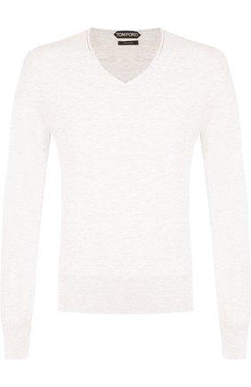 Однотонный хлопковый пуловер  | Фото №1