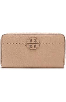 Кожаный кошелек с логотипом бренда | Фото №1