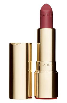 Женская матовая губная помада joli rouge velvet, оттенок 732 CLARINS бесцветного цвета, арт. 80032877 | Фото 1