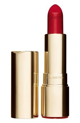 Женская матовая губная помада joli rouge velvet, оттенок 742 CLARINS бесцветного цвета, арт. 80032872 | Фото 1