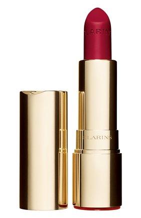 Женская матовая губная помада joli rouge velvet, оттенок 754 CLARINS бесцветного цвета, арт. 80032875 | Фото 1