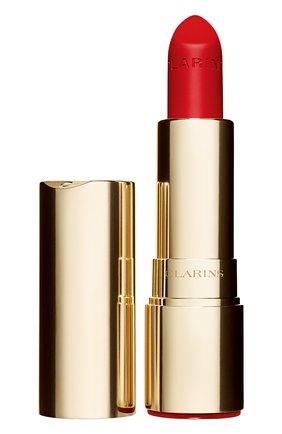 Женская матовая губная помада joli rouge velvet, оттенок 761 CLARINS бесцветного цвета, арт. 80032883 | Фото 1