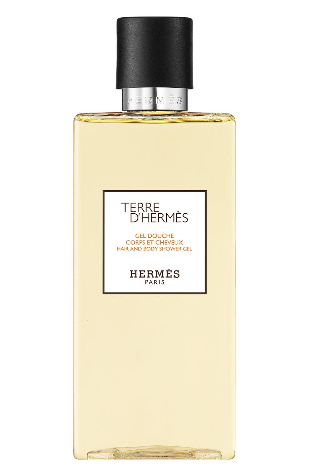 Мужского шампунь для волос и тела terre d'hermès HERMÈS бесцветного цвета, арт. 39499H | Фото 1