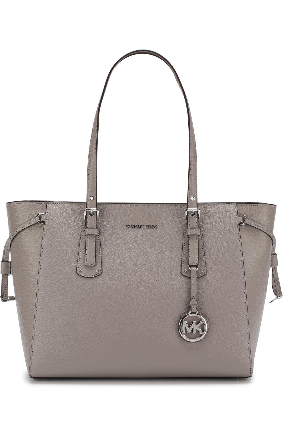 7ed4898dca40 Женская сумка-тоут voyager medium MICHAEL MICHAEL KORS серая цвета ...