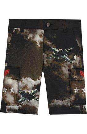 Хлопковые шорты с принтом   Фото №1