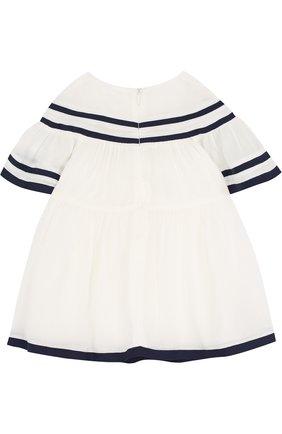 Платье свободного кроя с контрастной отделкой   Фото №2